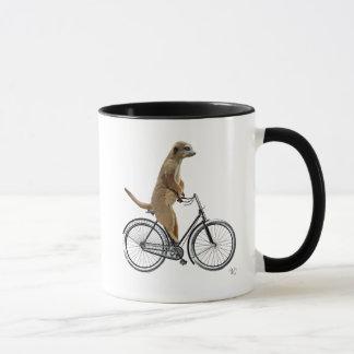 Mug Meerkat sur la bicyclette