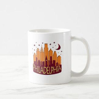 Mug Méga d'horizon de Philadelphie chaud