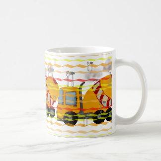 Mug Mélangeur concret jaune et rouge