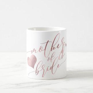 Mug Mère de PixDezines de manuscrit rose de jeune