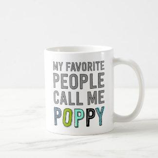 Mug Mes personnes préférées m'appellent pavot
