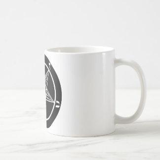 Mug métal noir, baphomet, seigneur d'obscurité !