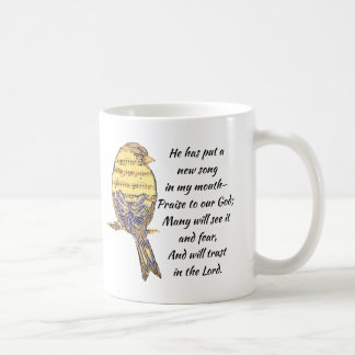 Mug Mettez une chanson dans mon oiseau d'écriture