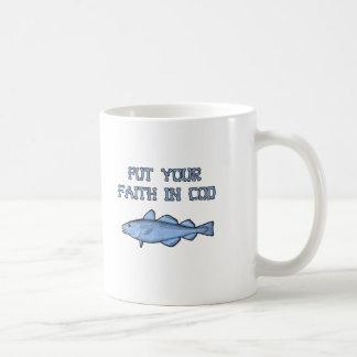 Mug Mettez votre foi dans la morue