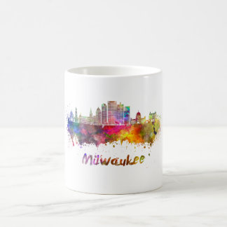 Mug Milwaukee V2 skyline in watercolor