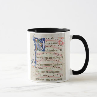 "Mug Mme 561 page avec ""P"" initial historiated"