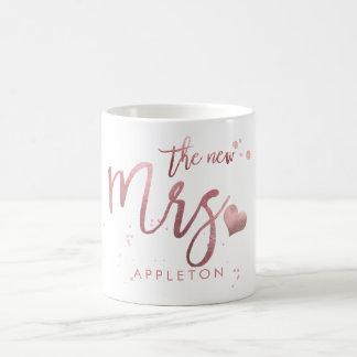 Mug Mme de PixDezines/or rose de Faux/manuscrit