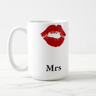 Mug Mme de tache de rouge à lèvres