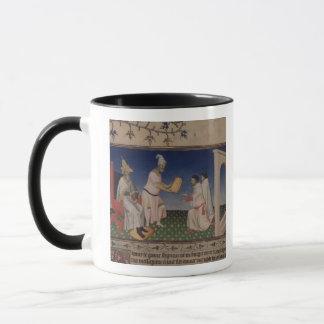 Mug Mme Fr 2810 f.3v Kublai Khan (1214-94) donnant son
