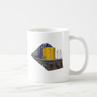 Mug modèle 3D : Train de fret : Chemin de fer :