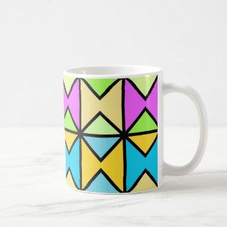 """Mug modèle classique """"Géométrique coloré Pop Art"""""""