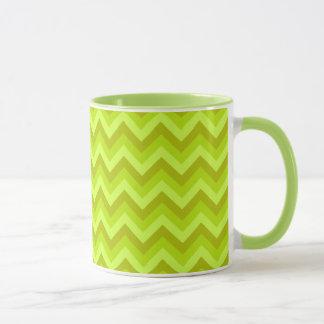 Mug Modèle de zigzag de vert de chaux