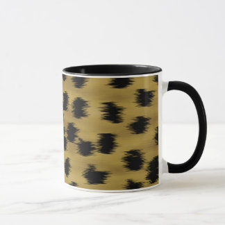 Mug Modèle noir et d'or d'impression de guépard de