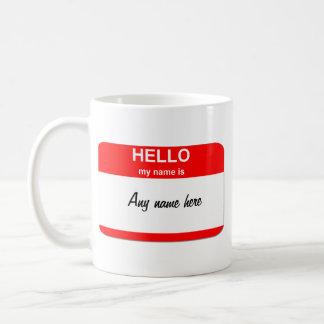 Mug Modèle nommé vide d'étiquette
