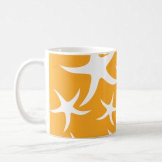 Mug Modèle orange et blanc ensoleillé d'étoiles de mer