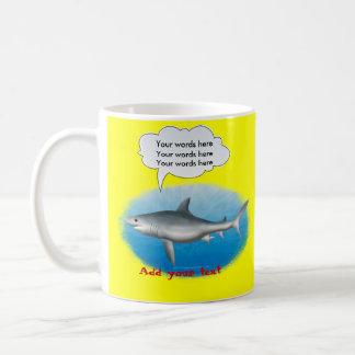 Mug Modèle parlant de requin