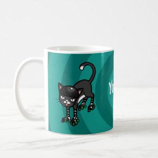 Mug Modèle personnalisable de Rollerskates de chat