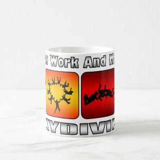Mug Moins de travail et plus de parachutisme