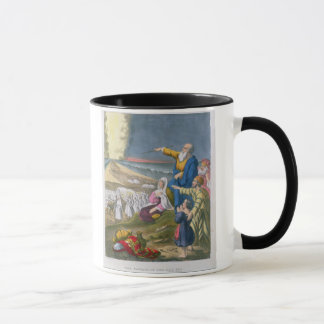 Mug Moïse séparant la Mer Rouge, d'une bible imprimée