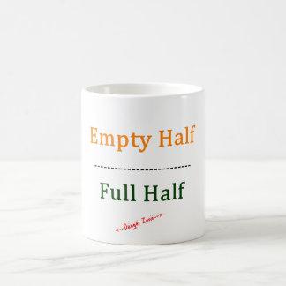 Mug Moitié vide/complètement à moitié