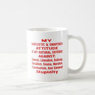 Mug Mon attitude sarcastique et de Smartass est mon