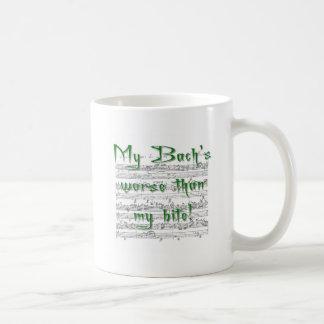 Mug Mon Bach plus mauvais que ma morsure !