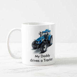 Mug Mon Daddydrives un tracteur