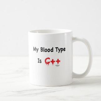 Mug Mon groupe sanguin est c++