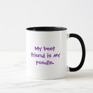 Mug Mon meilleur ami est mon caniche