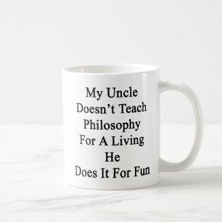 Mug Mon oncle ne l'enseigne pas à philosophie pour