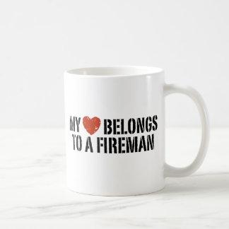 Mug Mon pompier de coeur