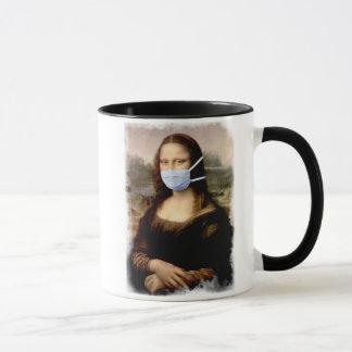 Mug Mona Lisa avec le masque da Vinci charriant les