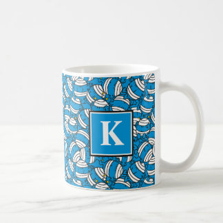 Mug Monogramme bleu du motif | de confusion de M. Bump