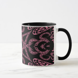 Mug Monogramme gothique K de mystère rose