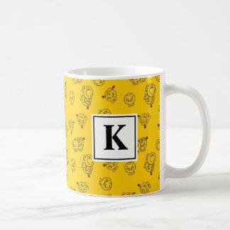 Mug Monogramme jaune du motif |