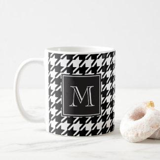 Mug Monogramme noir de pied-de-poule