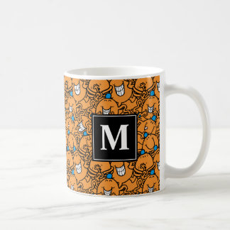 Mug Monogramme orange du motif | de chatouillement de