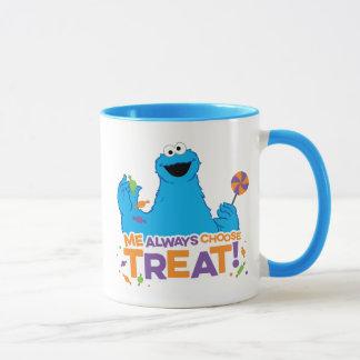 Mug Monstre de biscuit - je choisit toujours le festin