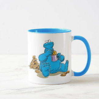 Mug Monstre vintage de biscuit mangeant des biscuits
