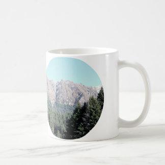 Mug Montagnes et pins de la Nouvelle Zélande à la