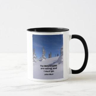 Mug Montagnes rocheuses w/quote de Milou par John Muir