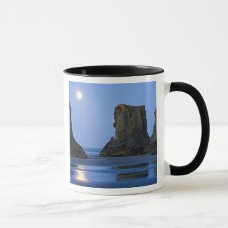 Mug Moonset, plage de Bandon, Orégon