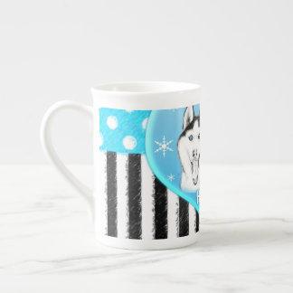 Mug Motif bleu de chiens de traîneau