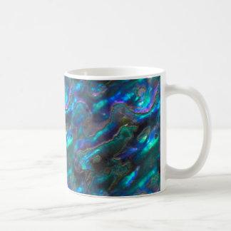Mug Motif bleu de photo de texture nacrée