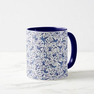 Mug Motif bleu d'oiseaux de Delft