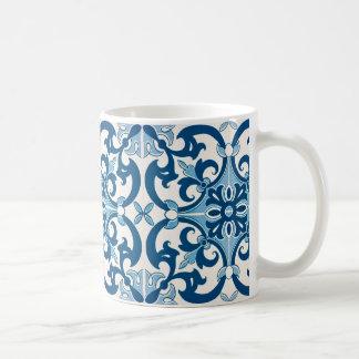 Mug Motif d'Azulejo Fleur De Lis Style
