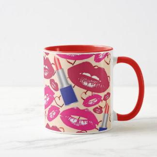 Mug Motif de baiser de rouge à lèvres