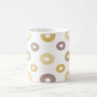Mug Motif de butées toriques - brun et beige