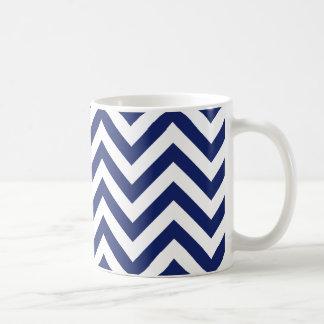 Mug Motif de Chevron de rayures de zigzag de bleu