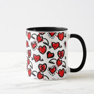 Mug Motif de croquis d'Anti-Valentine